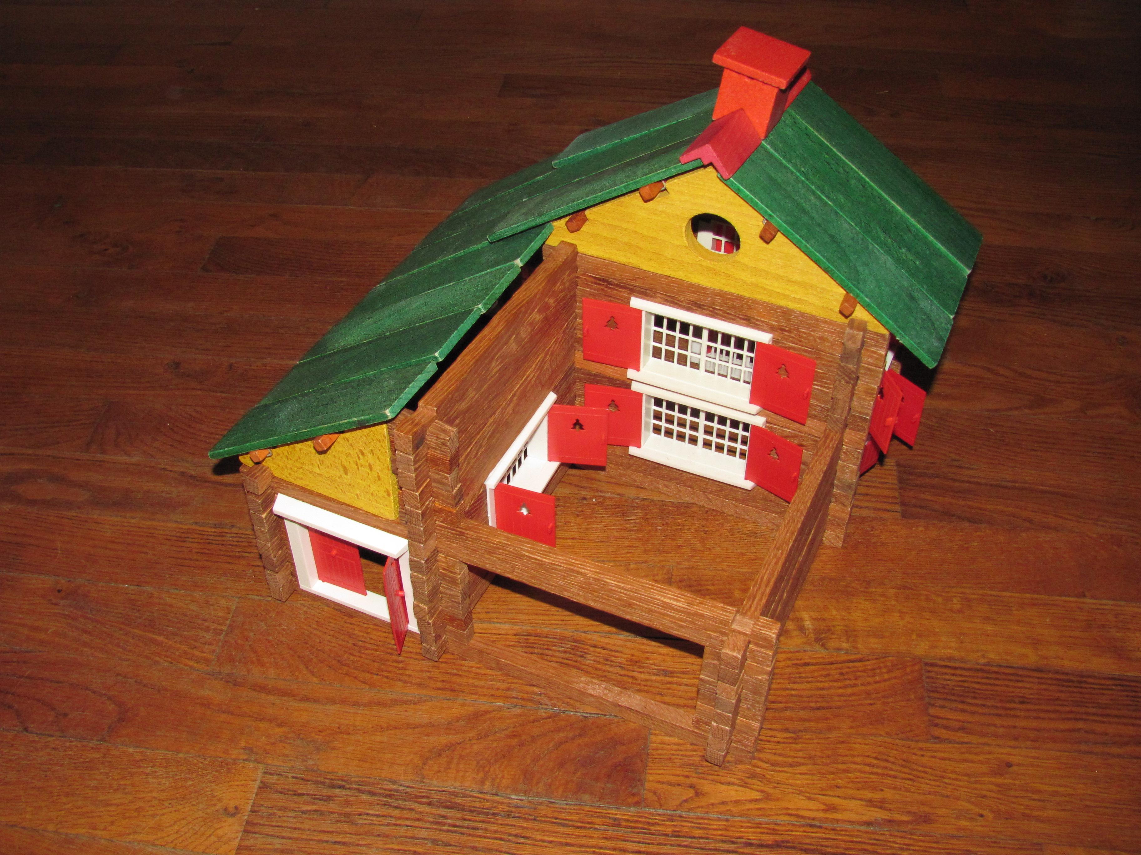 FileJeu de construction en bois JeuJura boîte n°8 Chalet  ~ Jeu Construction Bois