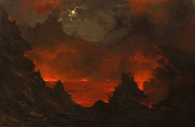 File:Jules Tavernier's painting 'Full Moon over Kilauea', 1887.jpg