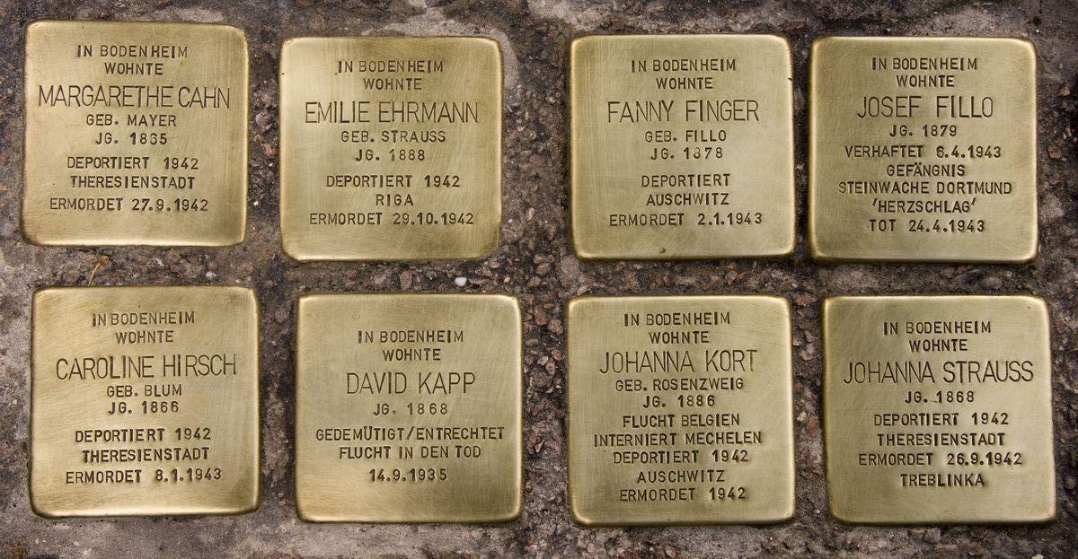 File Kollektion Stolpersteine Bodenheim Rathausplatz Jpg