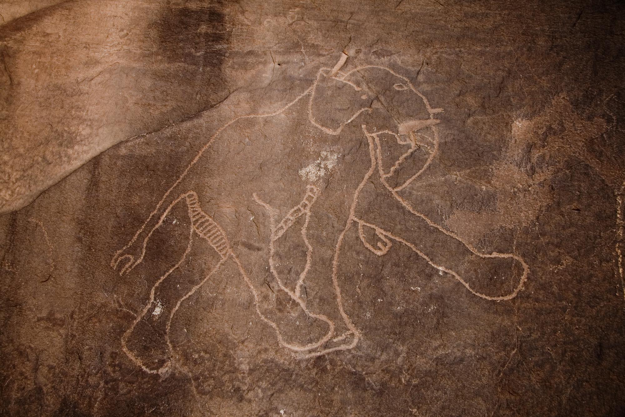 Libya 5041 Petroglyphs Tadrart Acacus Luca Galuzzi 2007.jpg