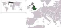 England's location within Europe