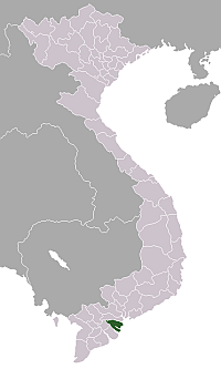 Location of Bến Tre Province