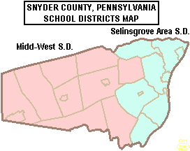Map of Snyder County, Pennsylvania School Districts
