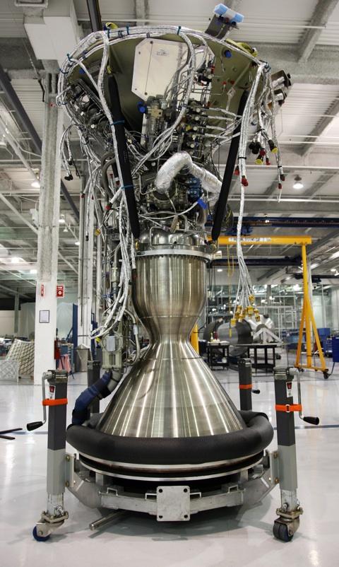 Merlin 1C Vacuum engine at Hawthorne factory in 2008