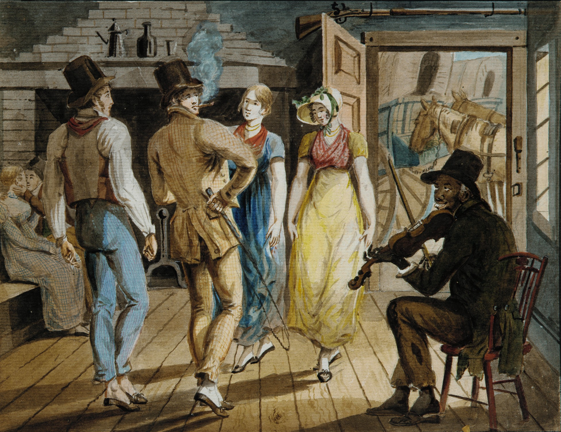 Watercolor artists directory wiki - Merrymaking At A Wayside Inn