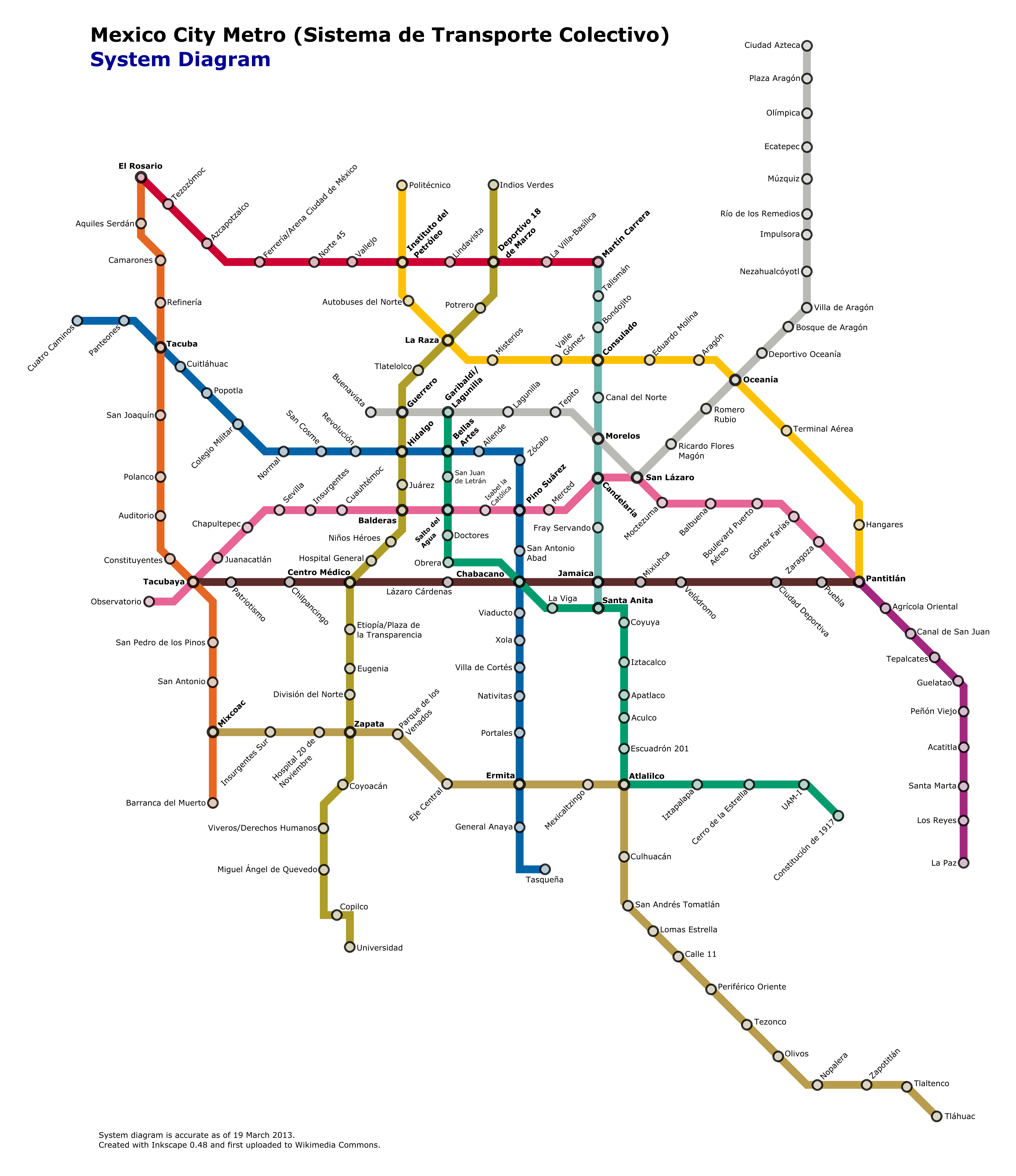 Subway Map Mexico City.List Of Mexico City Metro Stations Wikipedia