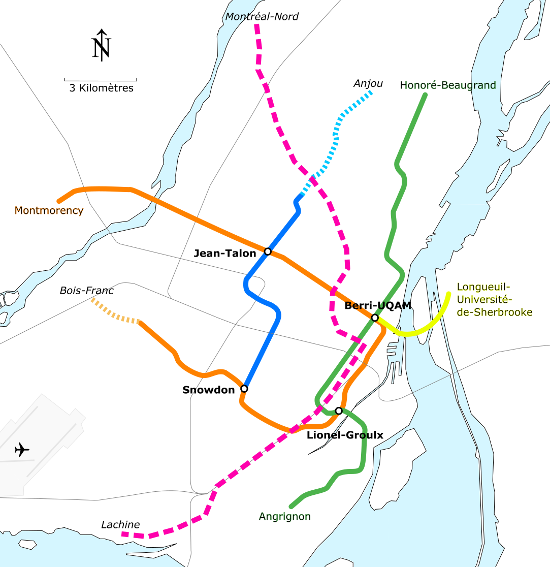 file montreal metro geographical map pink line png wikimedia commons