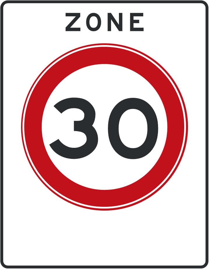 Afbeeldingsresultaat voor 30 km zone
