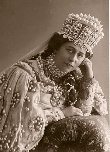 Antonina Nezhdanova, the famous Russian soprano, as Lyudmila