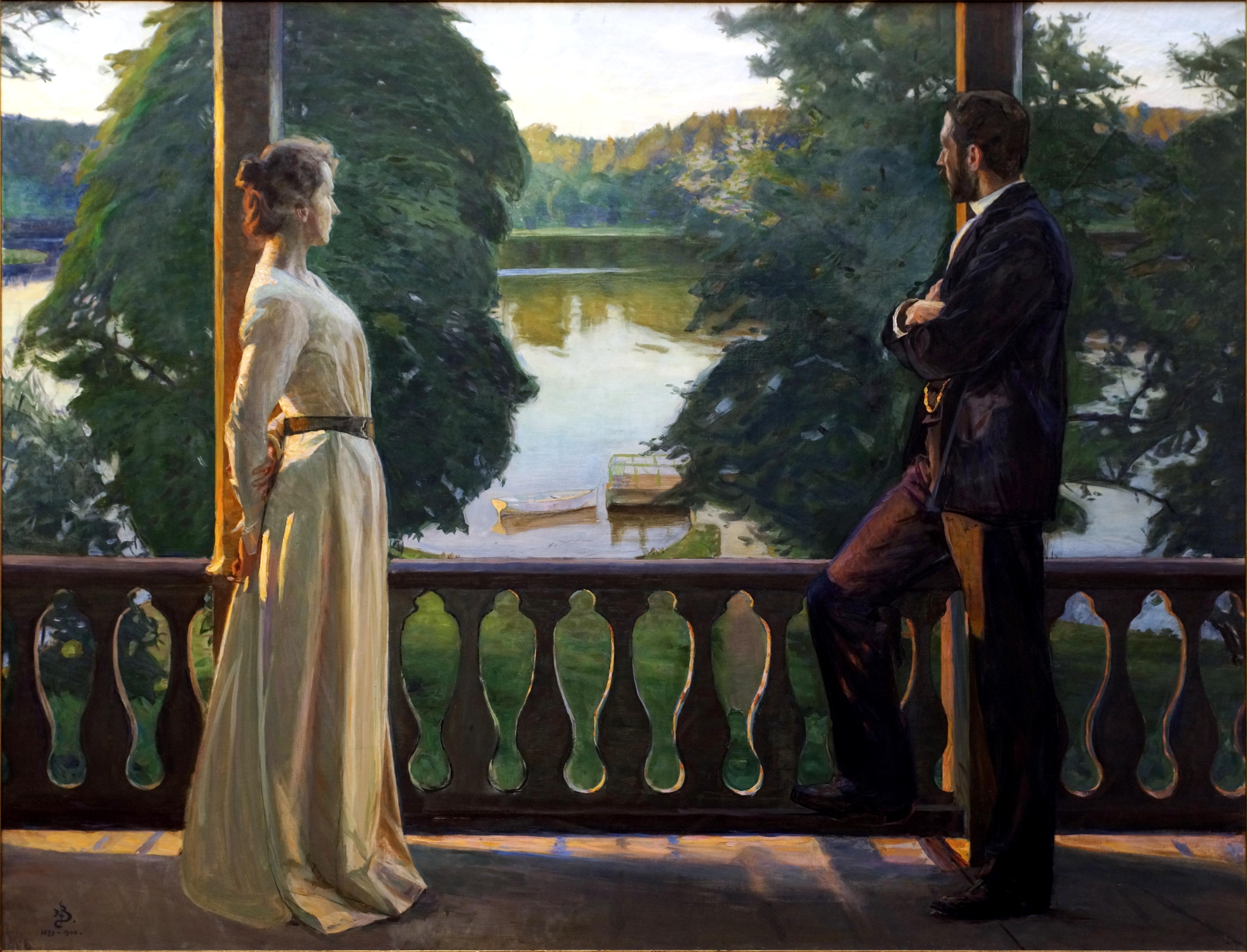File:Nordisk sommarkväll (1889-1900), målning av Richard Bergh.jpg