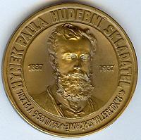 Pamětní medaile, avers: Hynek Palla (1837-1896) - hudební skladatel