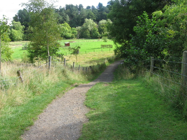 Path at the sheep paddocks in Dean Castle Country Park - geograph.org.uk - 549781