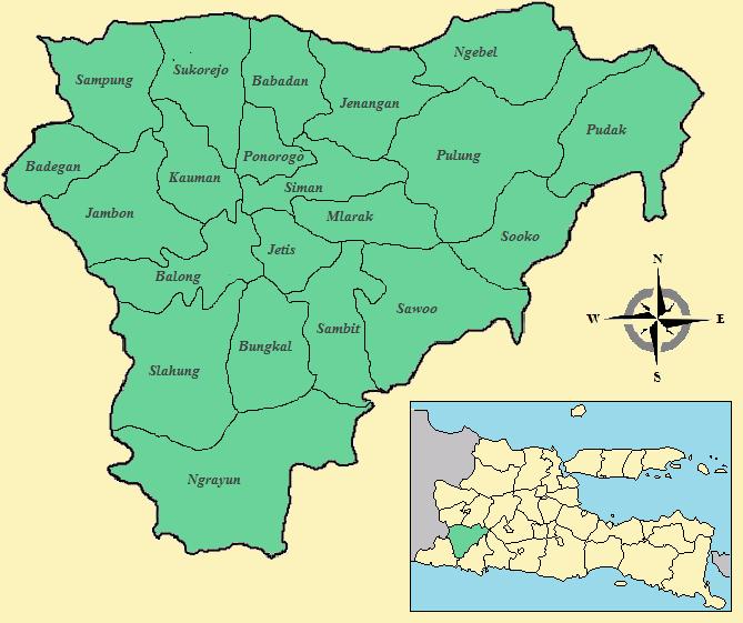 Daftar Kecamatan Dan Kelurahan Di Kabupaten Ponorogo Wikipedia Bahasa Indonesia Ensiklopedia Bebas