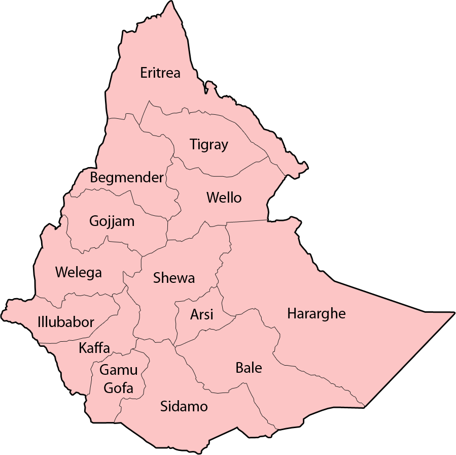 Ethiopian Map With Cities