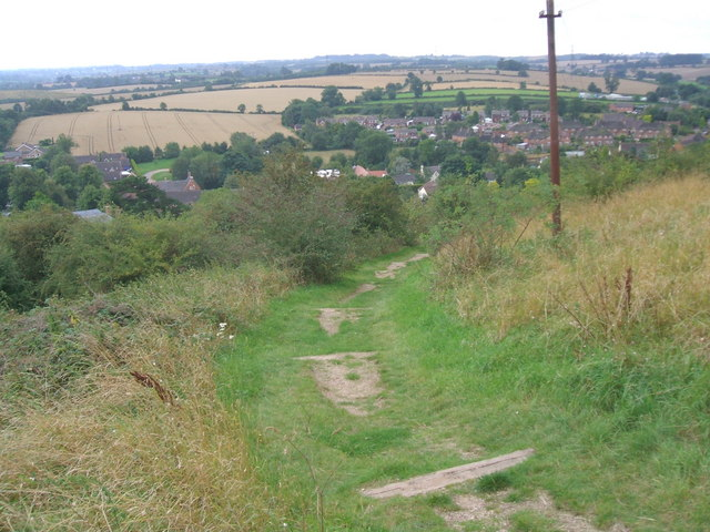 Public Footpath from the Church to the Village, Breedon on the Hill - geograph.org.uk - 930437