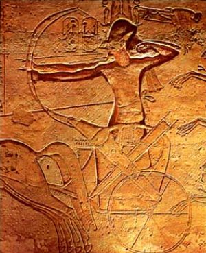 ملف:Ramses II at Kadesh.jpg