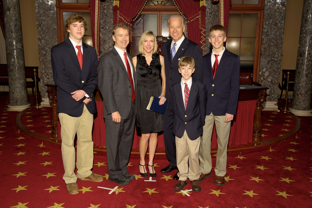 Family photo of the politician, married to Kelley Ashby, famous for United States Senator.