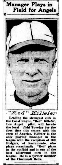 Red with the Pacific Coast League.