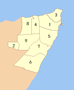 Regions of Puntland (Numbered).png