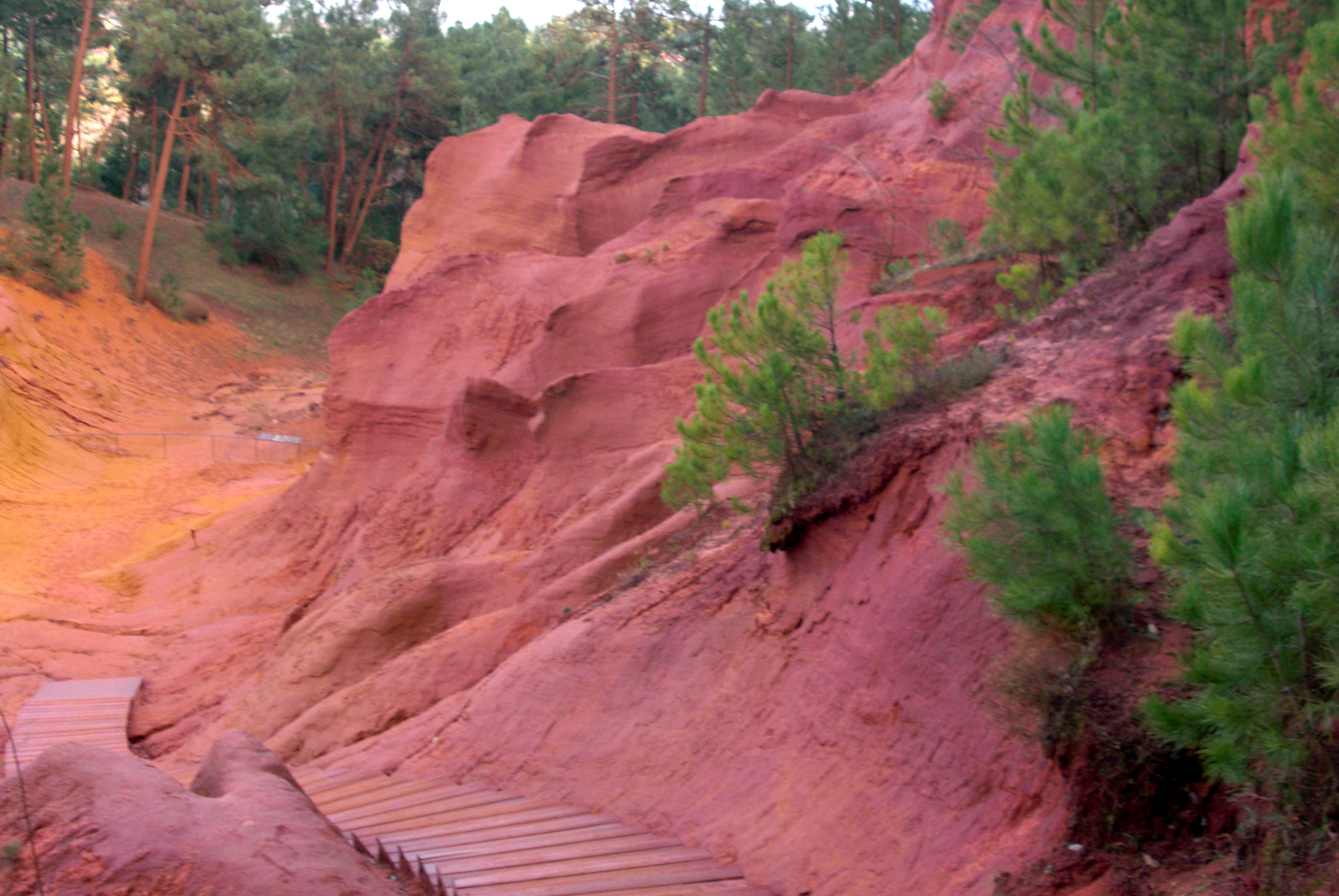 path of ochers, roussillon, france