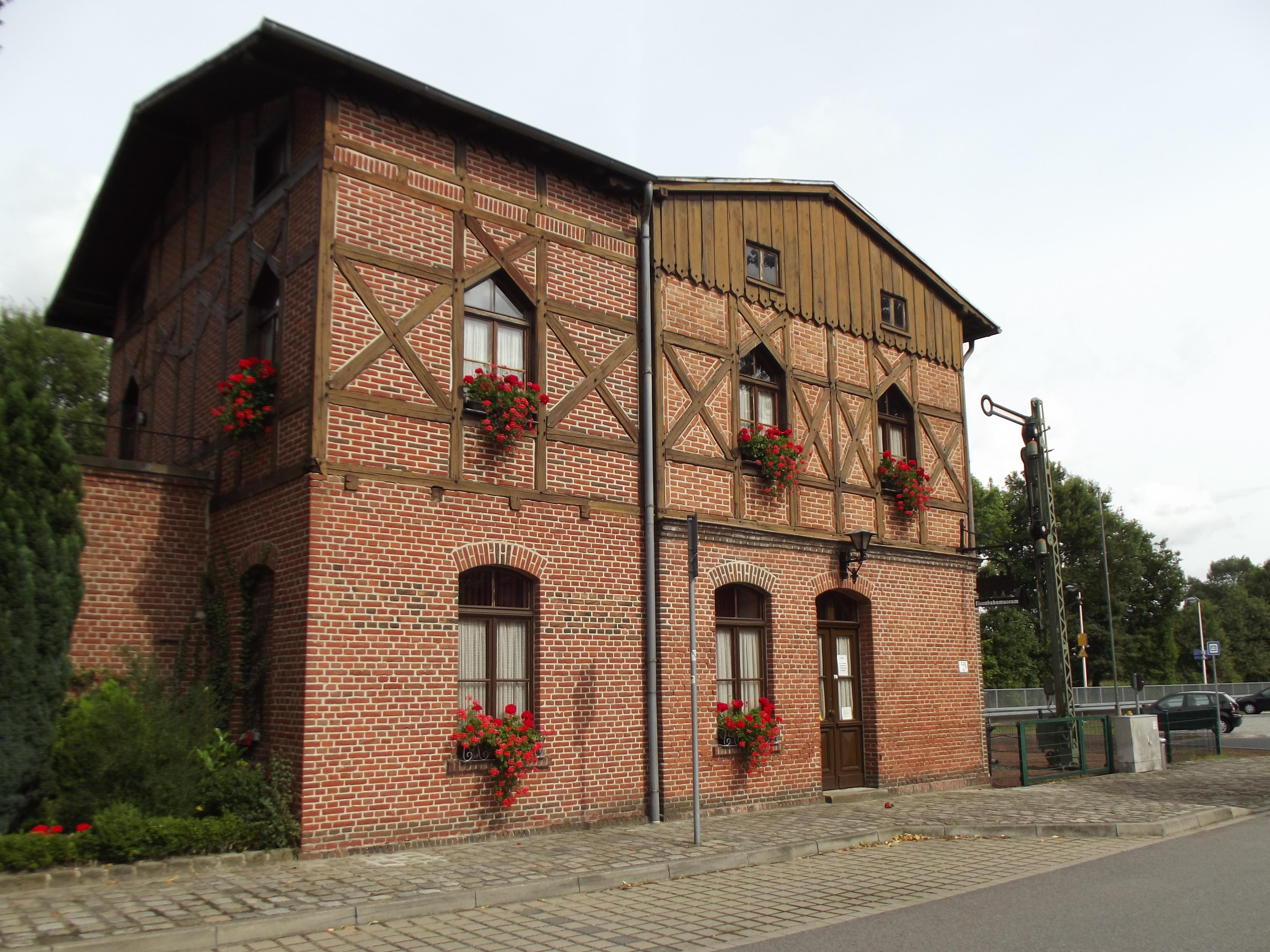 File:Rural railway station built timber framing style.jpg ...