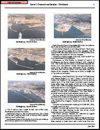 This page from a Sailing Directions assists the navigator by providing pictures and descriptions of a harbor approach.