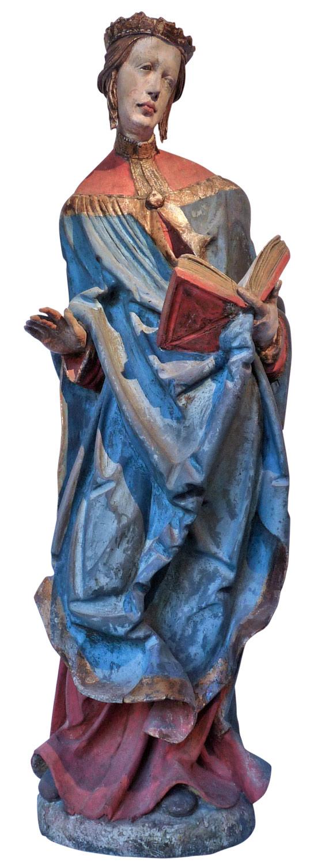 Bayersk kunstner: Elisabeth av Ungarn (ca 1520), Musée de l'Œuvre Notre-Dame i Strasbourg
