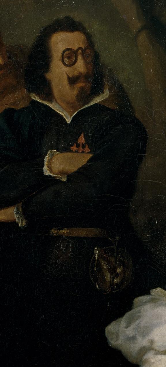 Quevedo, extraído de Lutero: asunto tomado de un sueño del infierno de Quevedo, del pintor catalán Francisco Sans Cabot.