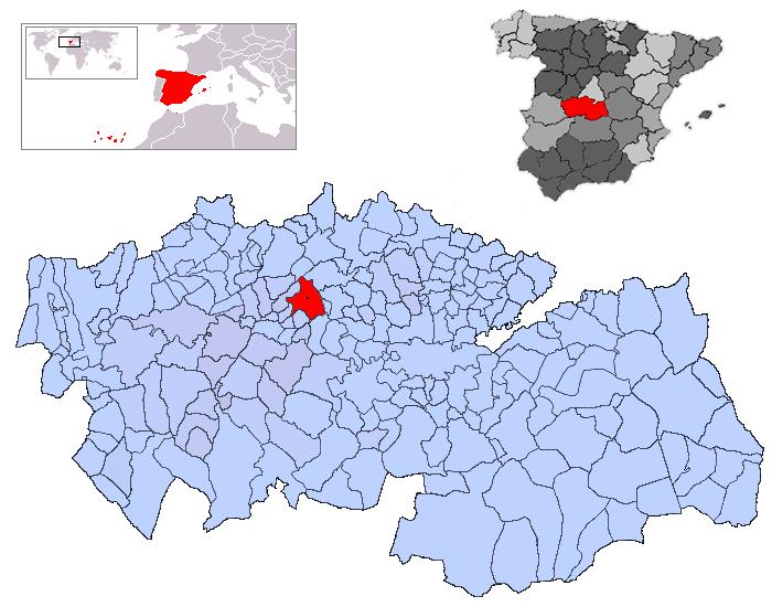Resultado de imagen de Santa Olalla toledo mapa