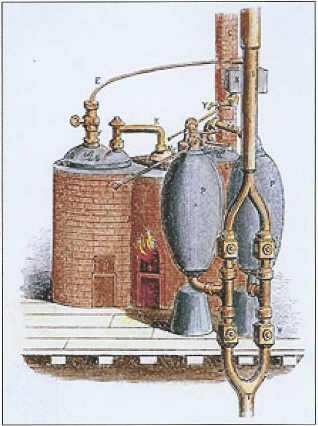 The 1698 Savery Engine was the first successful steam engine Savery-engine.jpg