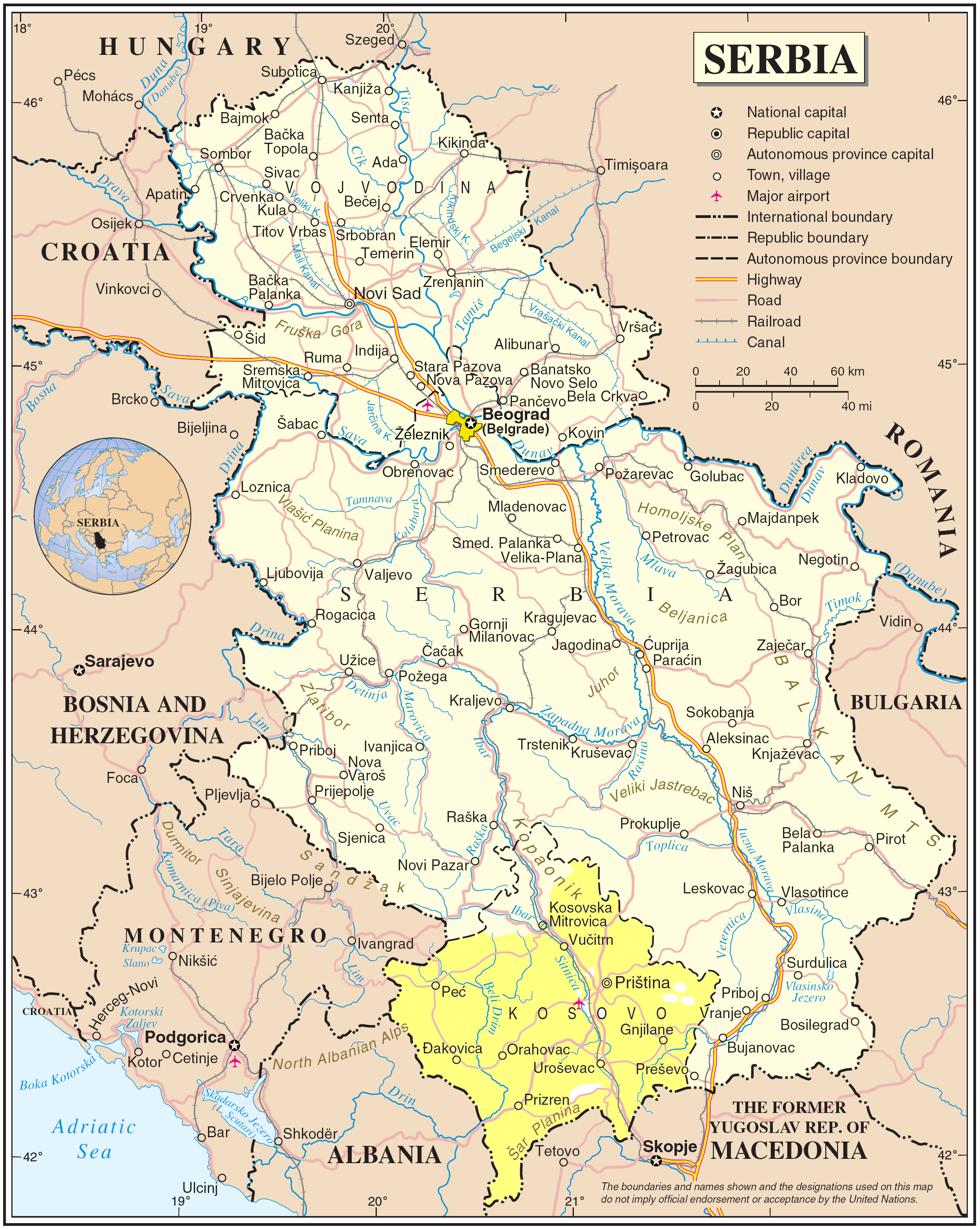 download mapa srbije File:Serbia Map including with de facto regime.png   Wikimedia Commons download mapa srbije