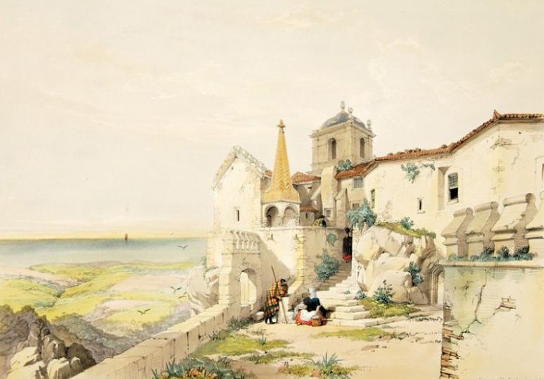 Monastère de la Pena à Sintra avant sa reconstruction en palais.