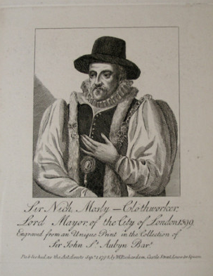 Sir Nicholas Mosley pictured in 1599 as Lord Mayor of London Sir Nicholas Mosley.png