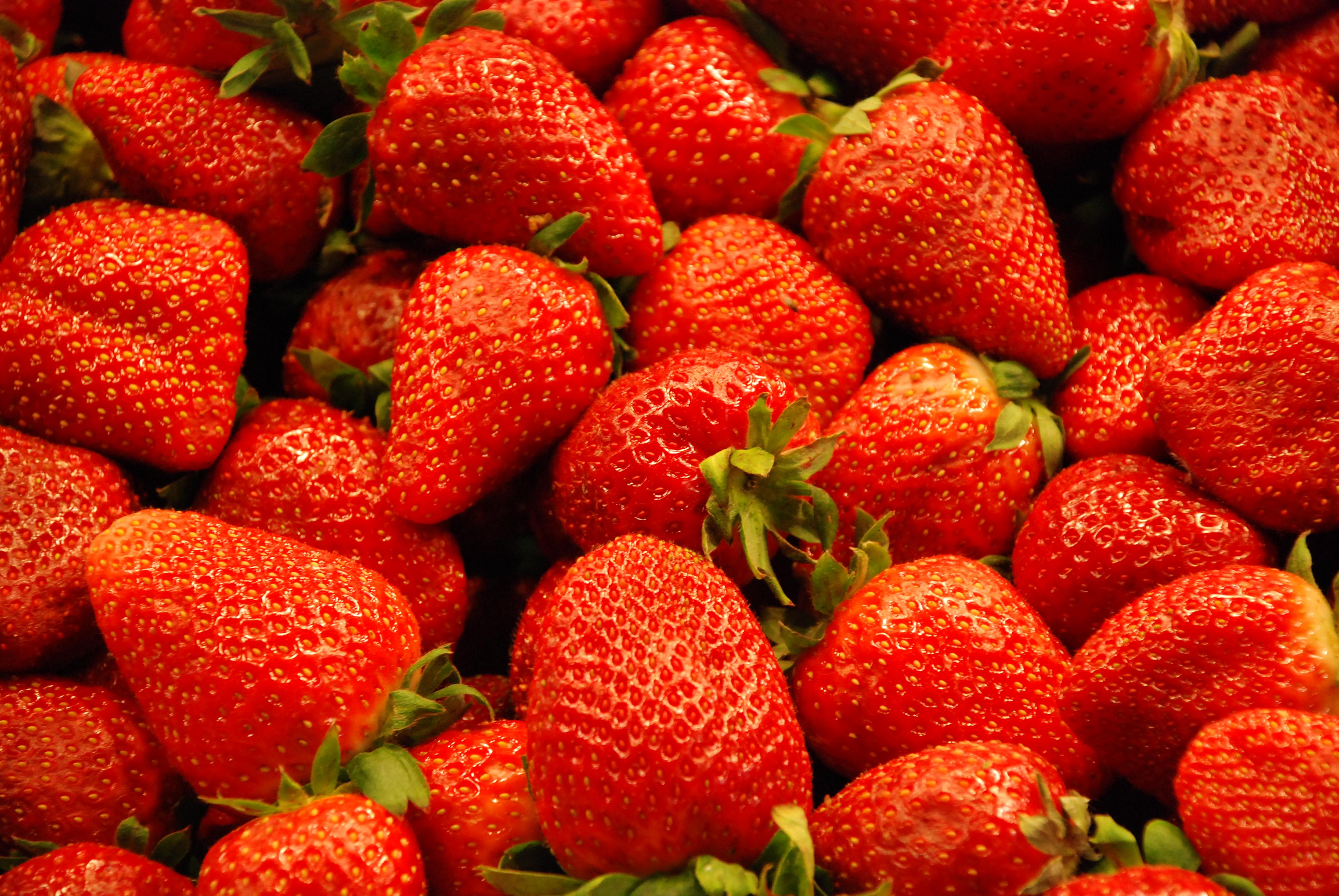 Fresh Strawberries On Cake