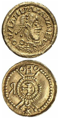 Golden coin from the Kingdom of the Suebi, 410–500 AD