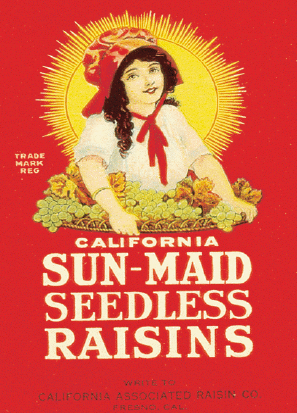 First Sun-Maid packaging to feature a likeness...