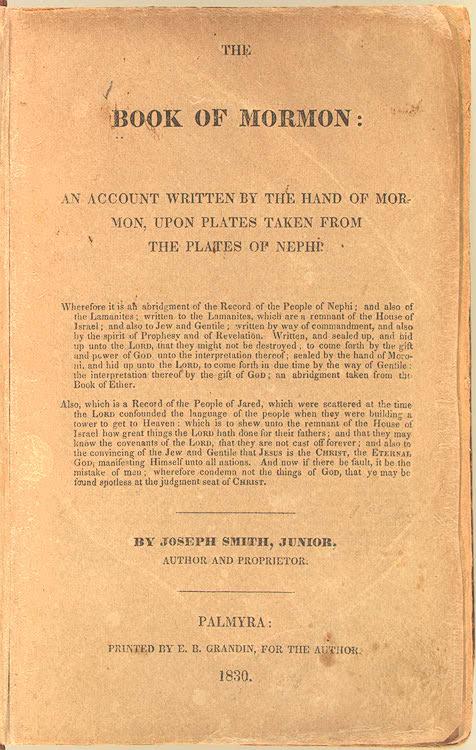 Book Of Mormon Wikiquote Magnificent Book Of Mormon Quotes
