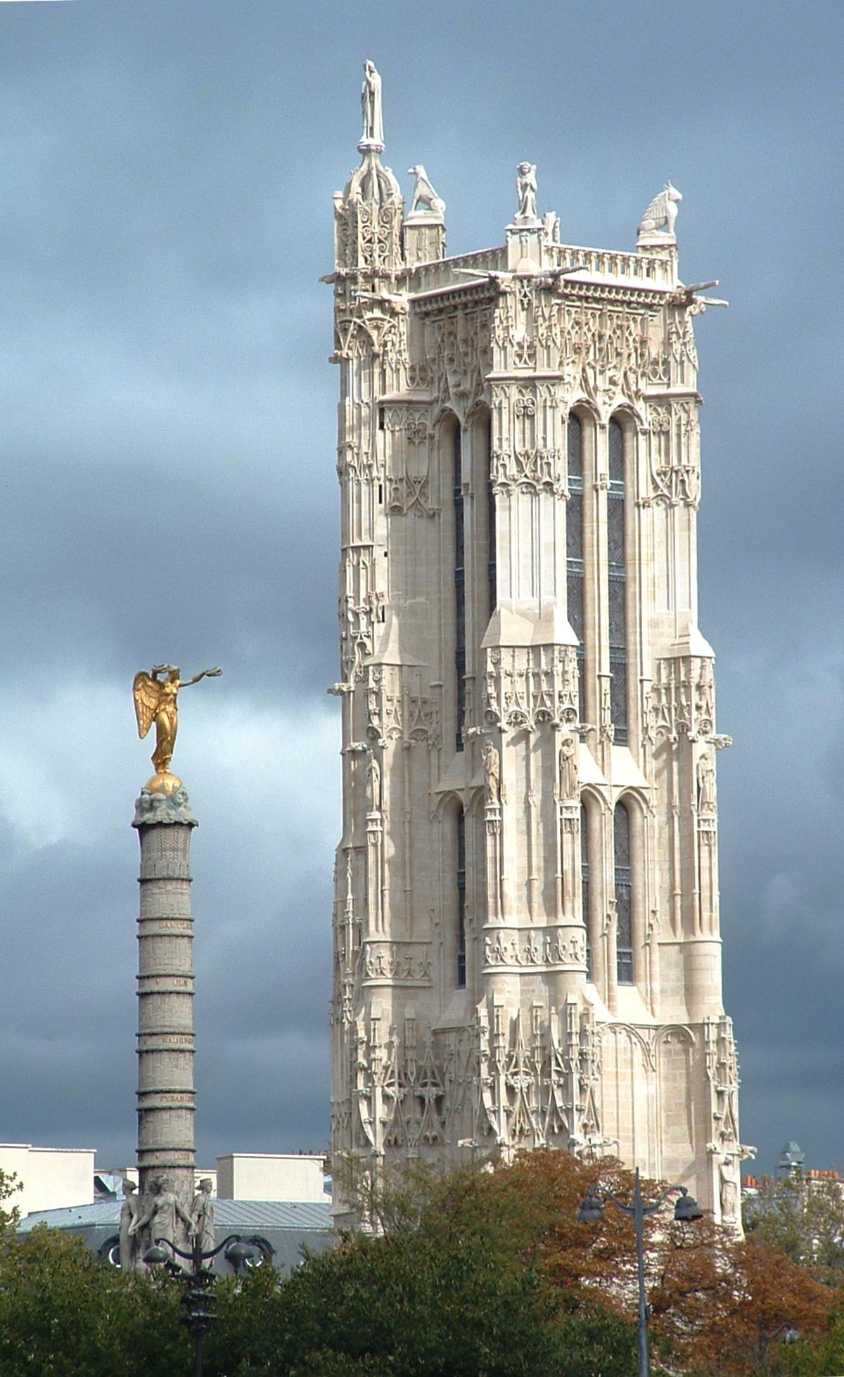File tour saint jacques wikimedia commons - Tour saint jacques paris ...