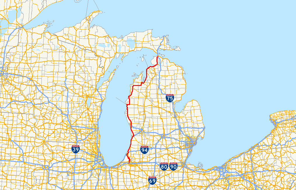 FileUS Route In Michigan Mappng Wikimedia Commons - Us map michigan