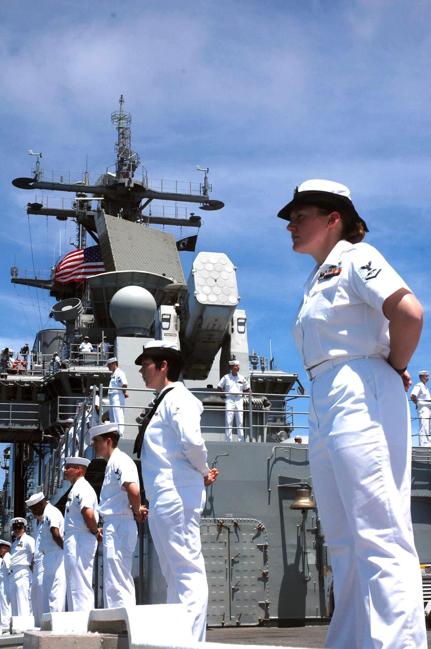 File Us Navy 061227 D 0000x 001 President Gerald R Ford: File:US Navy 050825-N-5914D-001 Sailors Man The Rails As