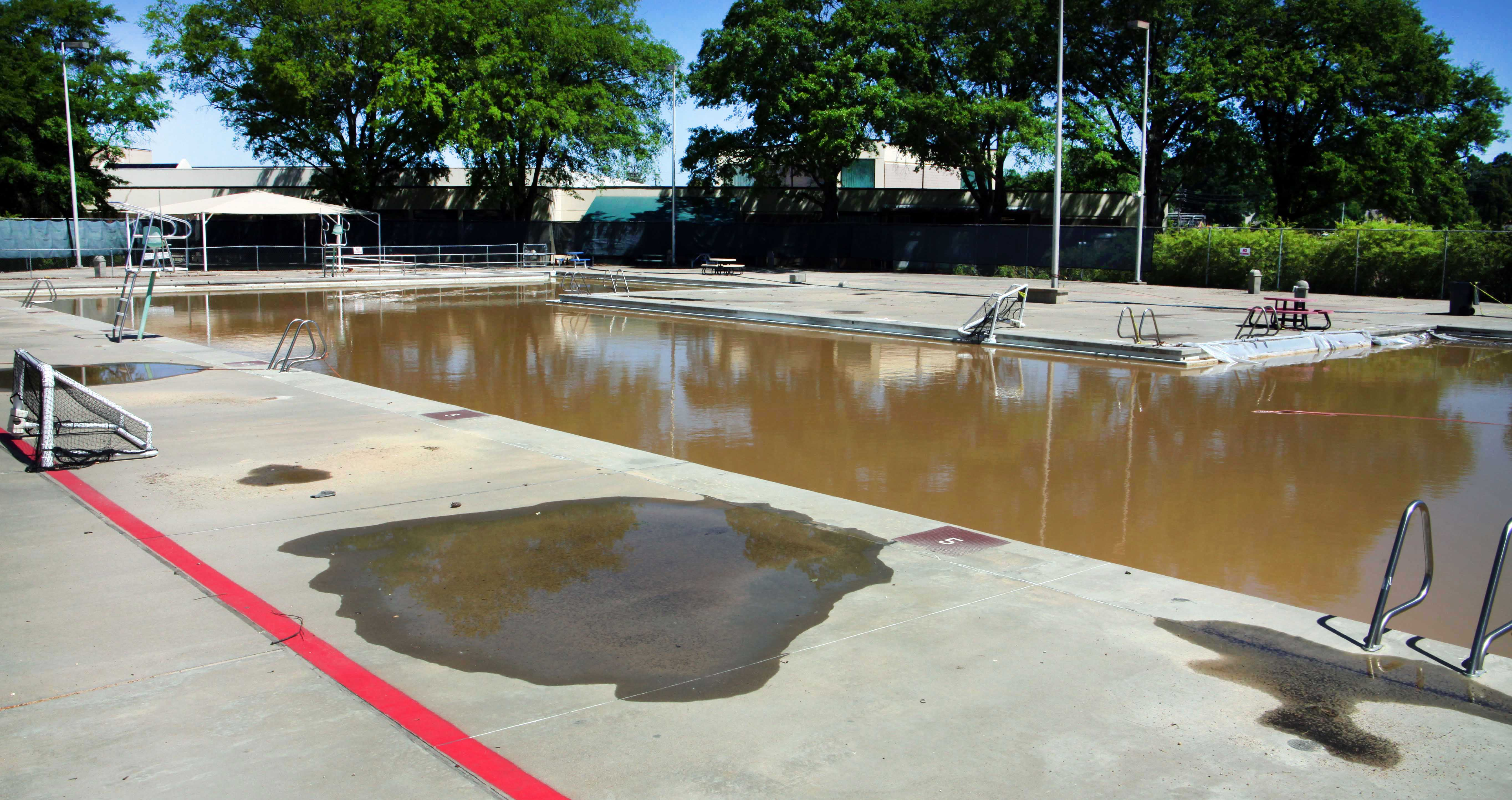 Flood Damaged Swimming Pool : File us navy n s a previously empty