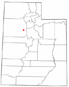 Location of Rush Valley, Utah