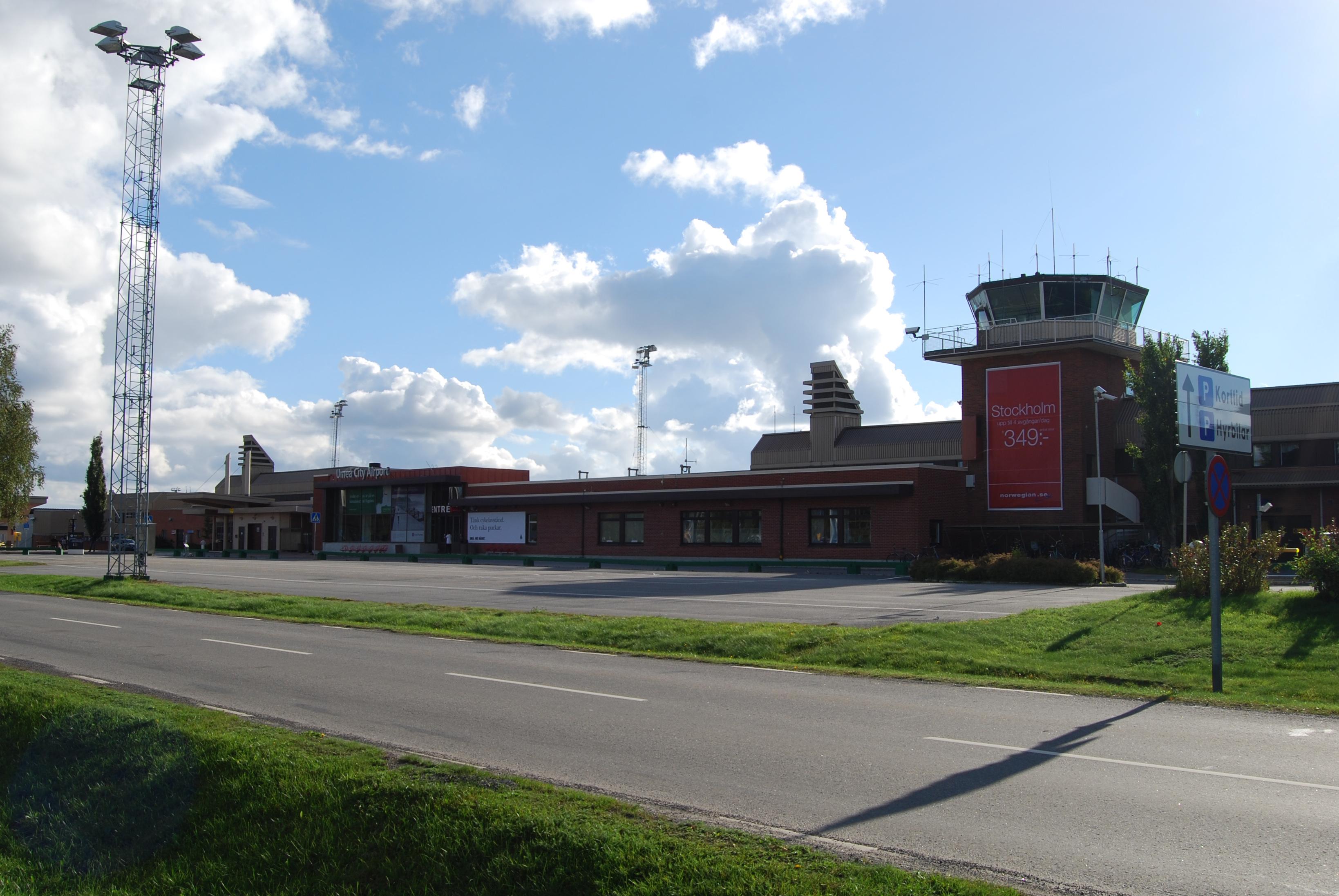 Sveriges största flygplatser - Umeå flygplats