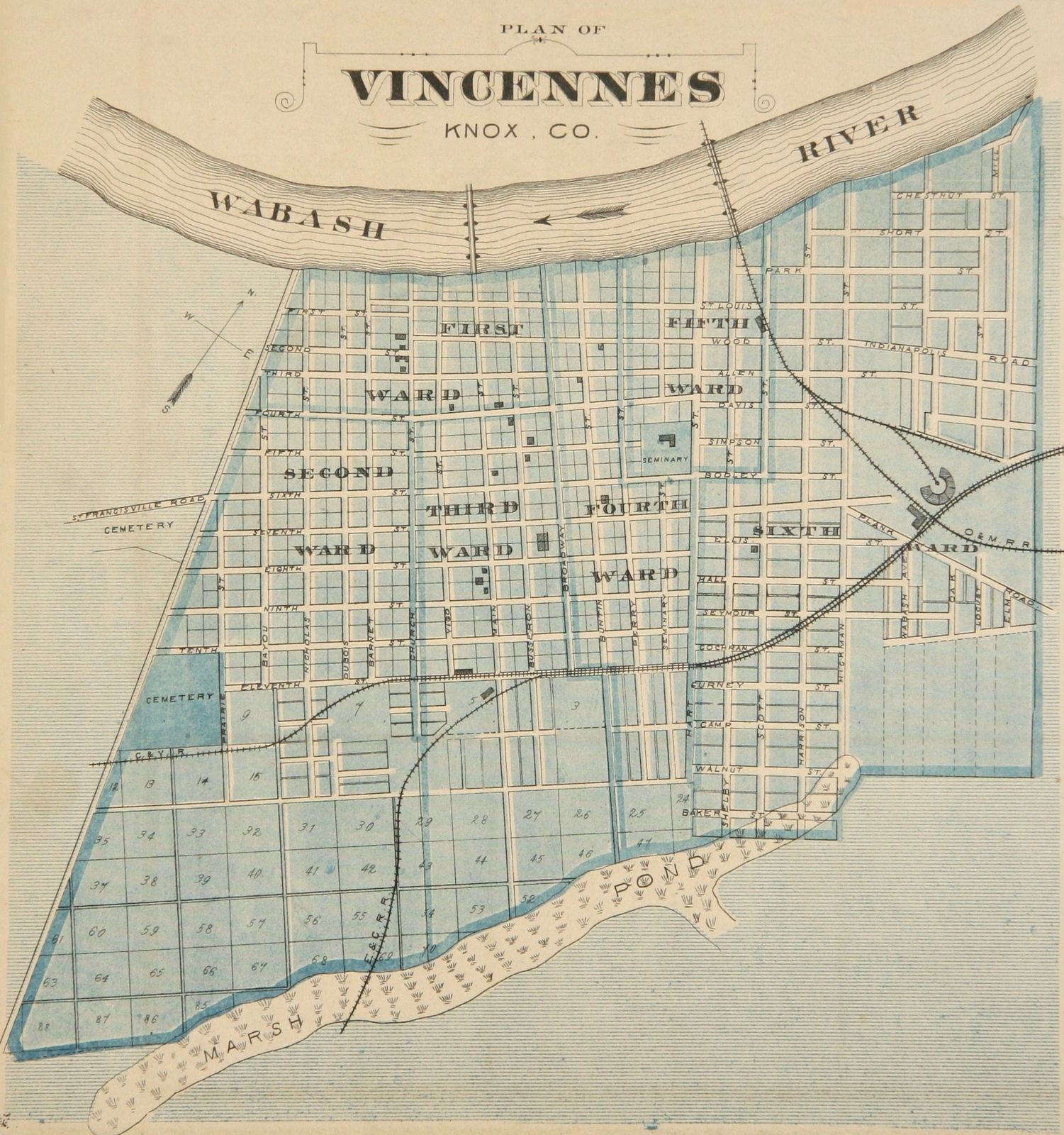 FileVincennes Indiana Map From 1876 AtlasJPG
