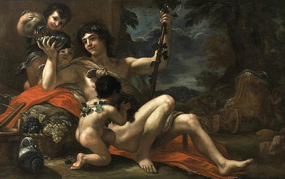 Bacchus with Attendant Putti