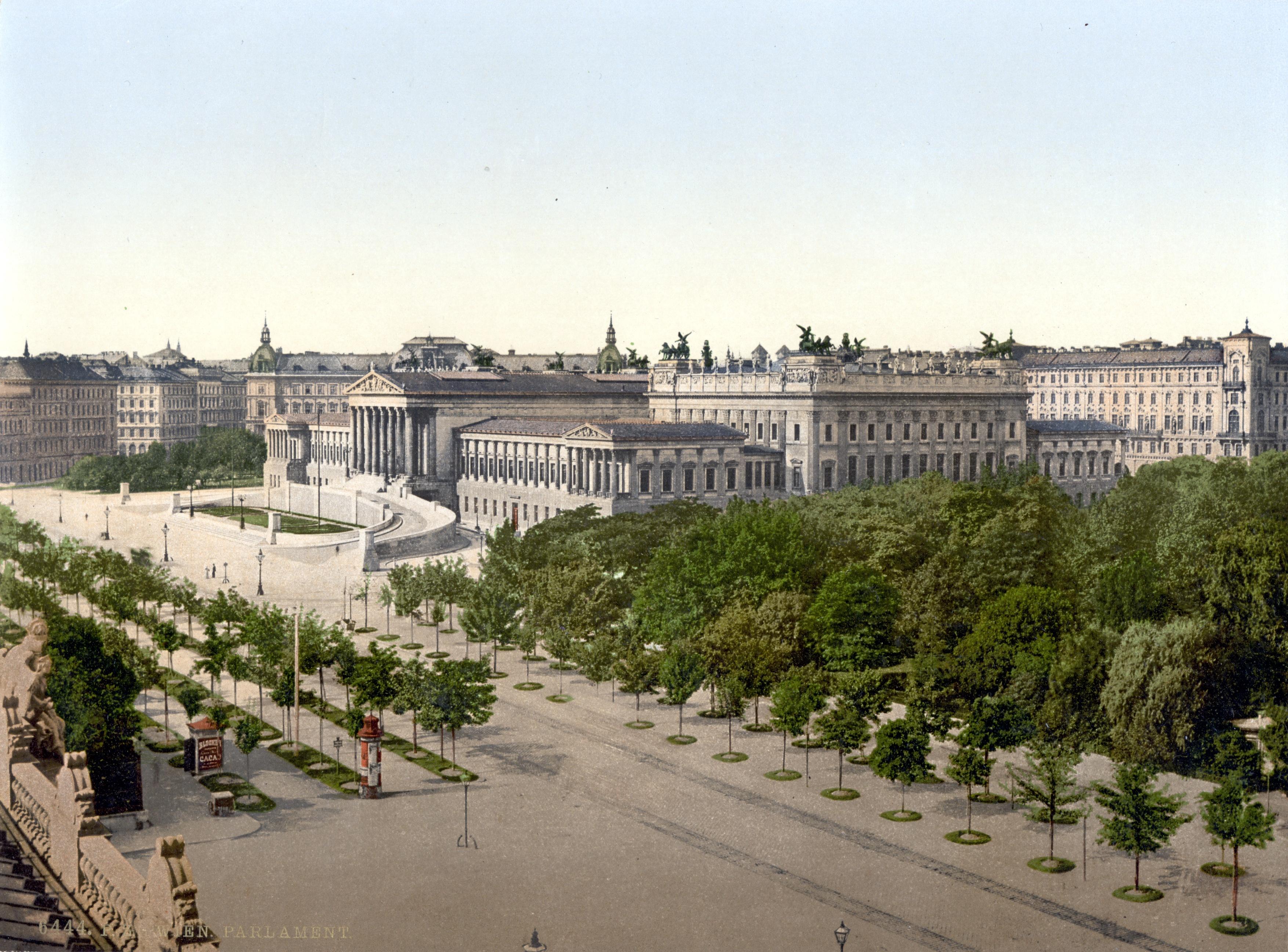 Ringstraße, parliament, Hostel Vienna, Vienna