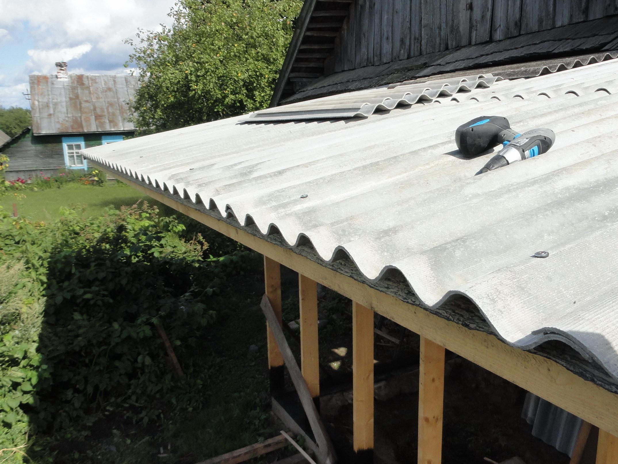 закрыть крышу шифером