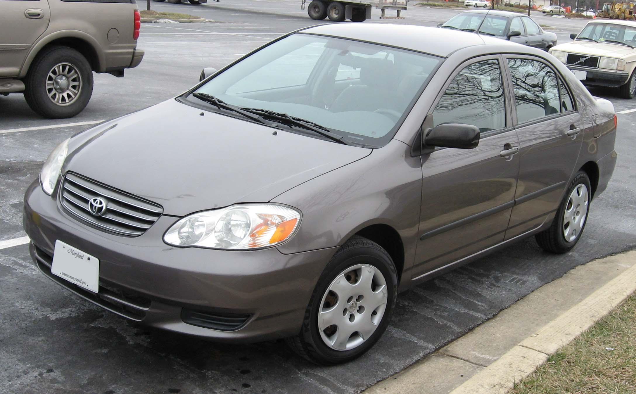 File 2003 04 Toyota Corolla Jpg Wikimedia Commons