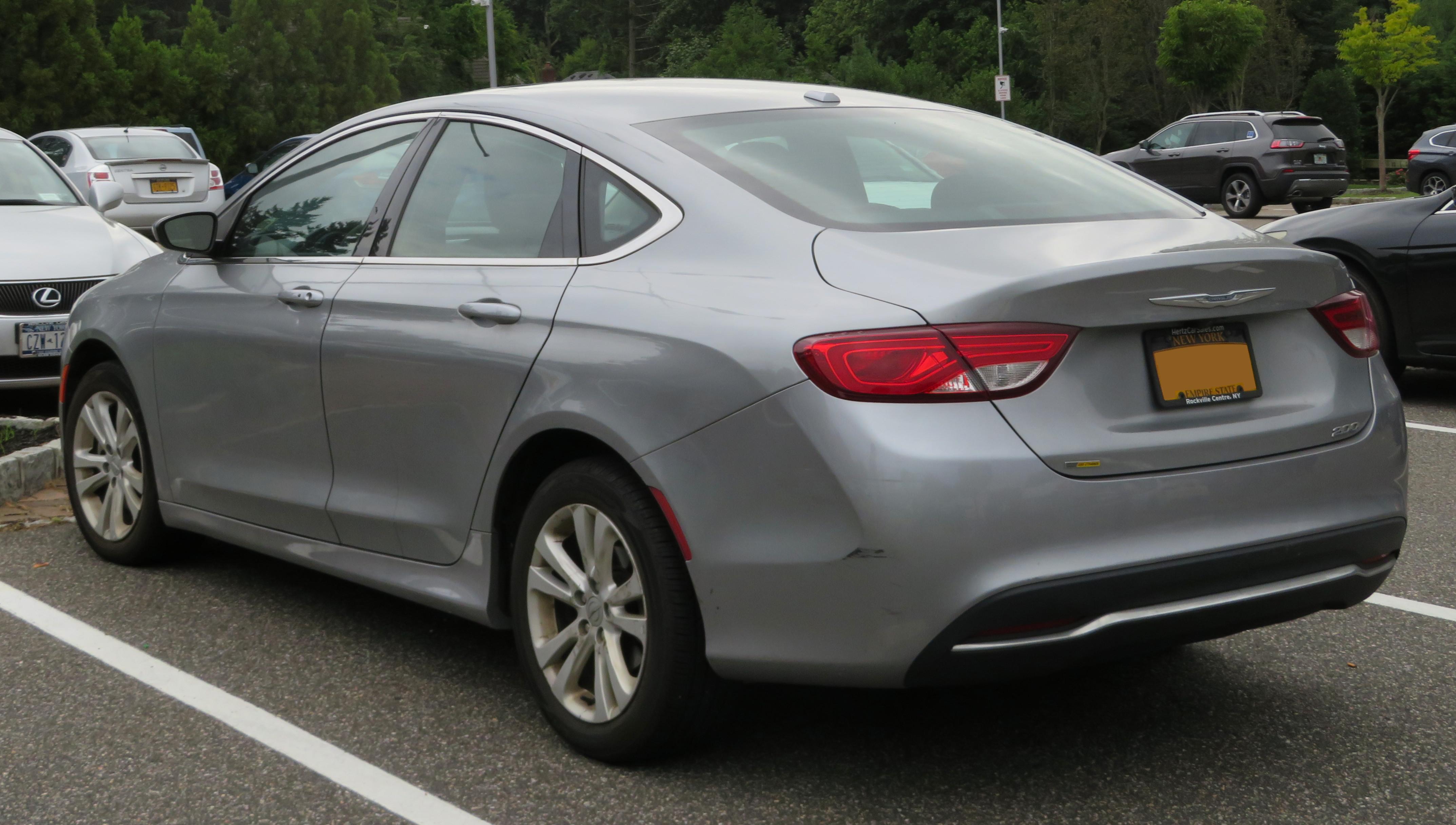 Chrysler 200 Rear >> File 2015 Chrysler 200 Limited 2 4l Rear 8 31 18 Jpg