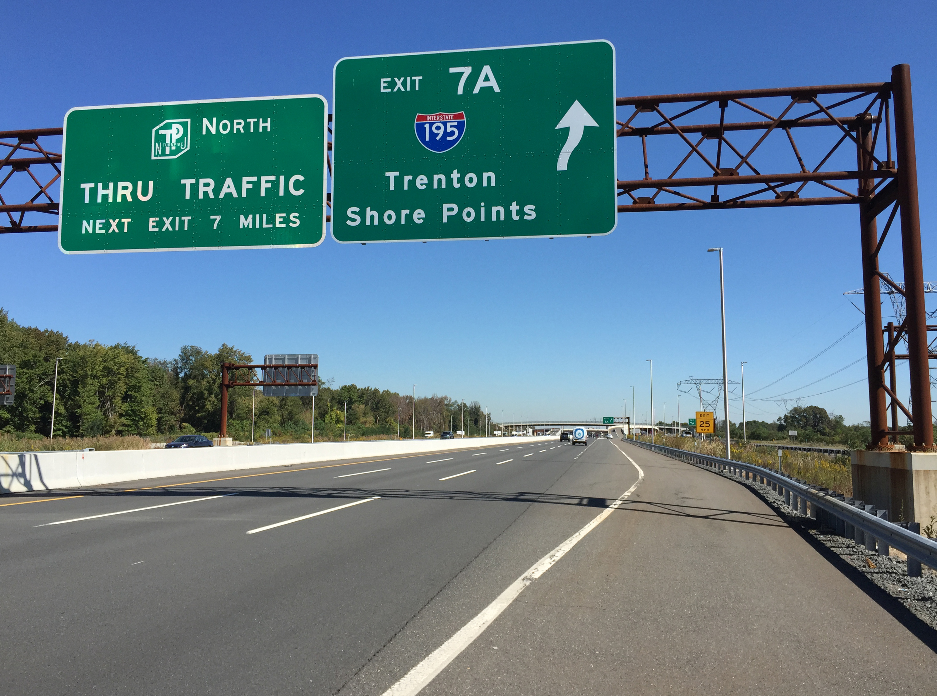 Exit 74  Lacey Road  State Route Garden State Parkway